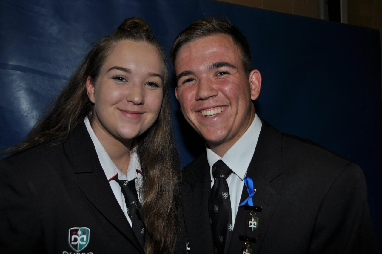 Dubbo College Delroy Campus school captains Charlotte and Harrison Crowfoot compered the presentation night.